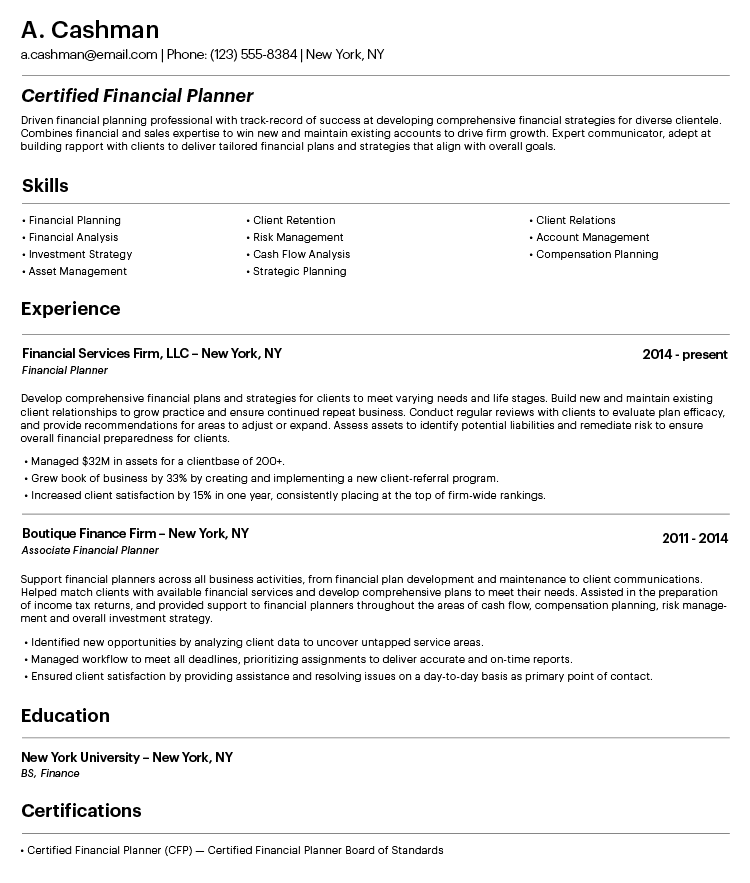How To Make A Great Professional Resume