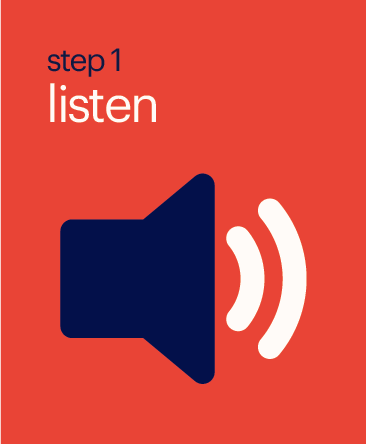 Step 1 Listen Button
