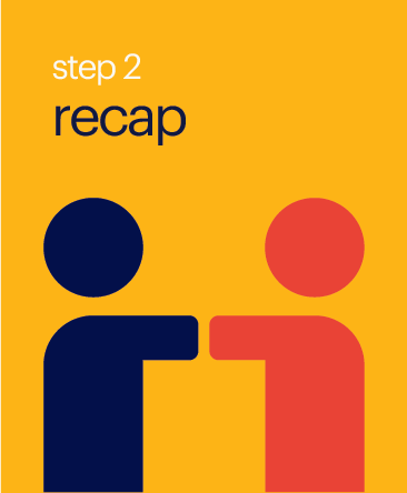 Step 2 Recap Button