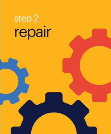 Step 2 Repair Button